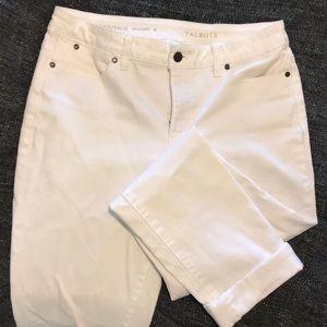 Talbots White Boyfriend Jeans